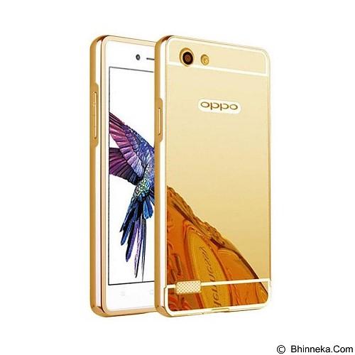 BUMPER CASE Mirror Sliding Case Oppo R5 - Gold (Merchant) - Casing Handphone / Case