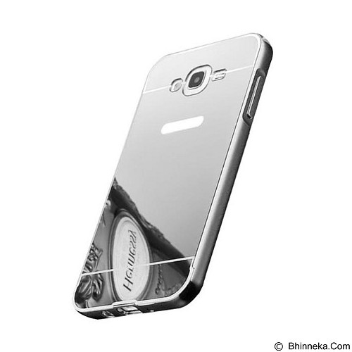 BUMPER CASE Mirror Sliding Case Samsung Galaxy J710 (J7 2016) - Silver (Merchant) - Casing Handphone / Case