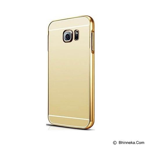 BUMPER CASE Mirror Sliding Case Samsung Galaxy Note Edge - Gold (Merchant) - Casing Handphone / Case