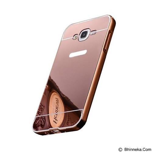 BUMPER CASE Mirror Sliding Case Samsung Galaxy Prime - Rose Gold (Merchant) - Casing Handphone / Case