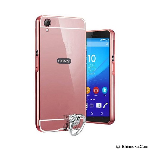 BUMPER CASE Mirror Sliding Case Sony Xperia M5 - Rose Gold (Merchant) - Casing Handphone / Case