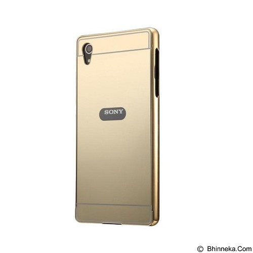 BUMPER CASE Mirror Sliding Case Sony Xperia Z2 - Gold (Merchant) - Casing Handphone / Case