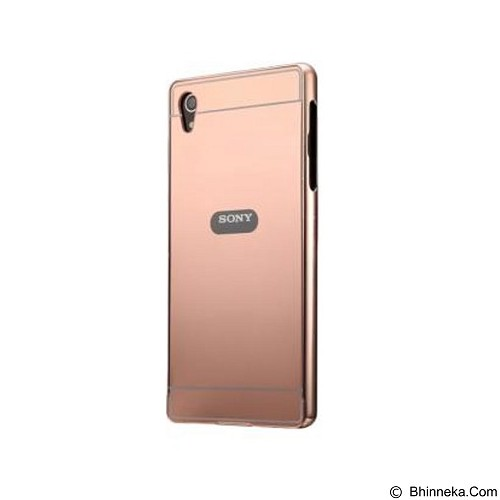 BUMPER CASE Mirror Sliding Case Sony Xperia Z2 - Rose Gold (Merchant) - Casing Handphone / Case