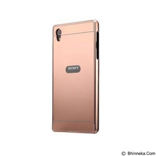 BUMPER CASE Mirror Sliding Case Sony Xperia Z2 - Rose Gold (Merchant) - Casing Handphone / Case