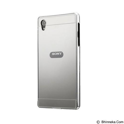 BUMPER CASE Mirror Sliding Case Sony Xperia Z2 - Silver (Merchant) - Casing Handphone / Case