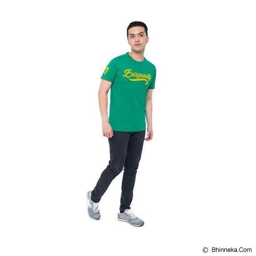 BURGUNDY T Shirt Burgundy Flocking 37 Size M [009-TS.005] - Green - Kaos Pria