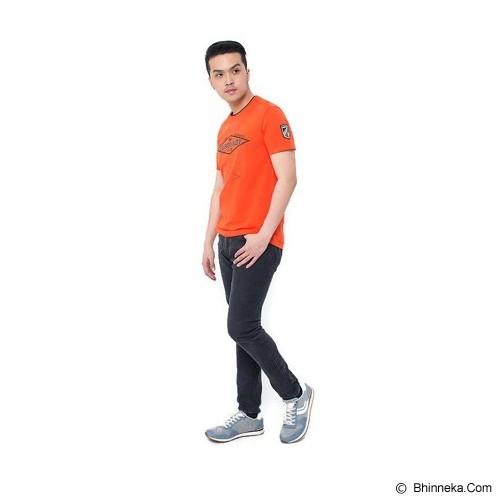 BURGUNDY T Shirt Burgundy 86 Size S [009-TS.003] - Orange - Kaos Pria