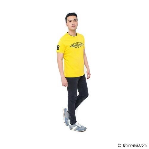 BURGUNDY T Shirt Burgundy 86 Size S [009-TS.003] - Yellow - Kaos Pria