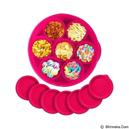 CALISTA Oedo Circle Container - Red - Wadah Makanan