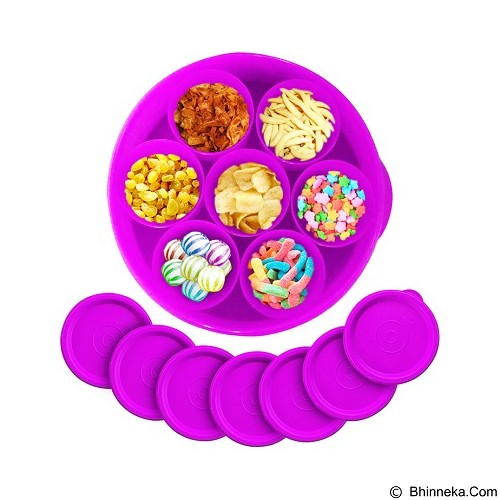 CALISTA Oedo Circle Container - Violet - Wadah Makanan