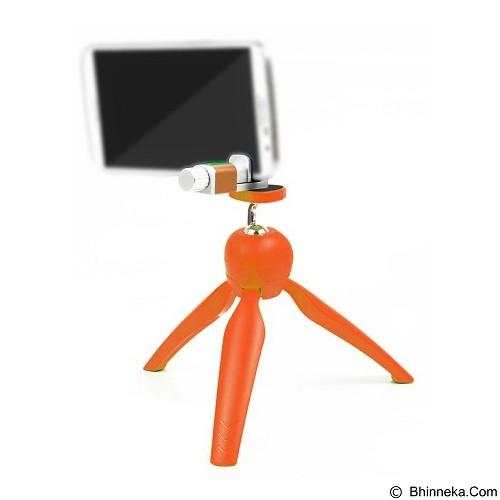 CALLIASTORE Mini Tripod With Phone Holder Clip Desktop [Lr-268] - Orange (Merchant) - Tripod Mini and Tabletop