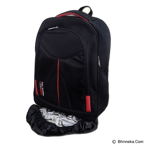 CAMPUS Essential Backpack with Laptop Slot + Rain Cover - Black (Merchant) - Notebook Backpack