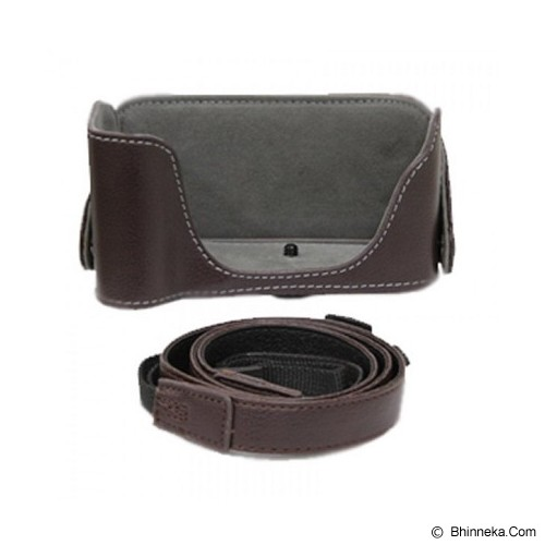 CAMZONE Leather Case With Strap - Camera Compact Pouch