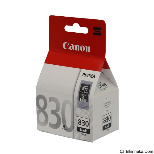CANON Black Ink Cartridge 830 [PG830B] (Merchant) - Tinta Printer Canon