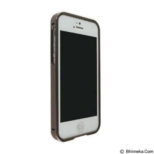 CAPDASE Alumor Bumper Casing for iPhone 5/5S [MBIH5-00WW] - Titanium (Merchant) - Casing Handphone / Case
