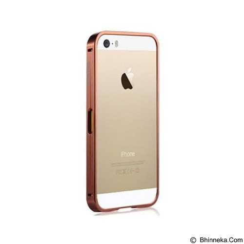 CAPDASE Alumor Bumper Casing for iPhone 5S [MBIH5-00PP] - Rose Gold (Merchant) - Casing Handphone / Case