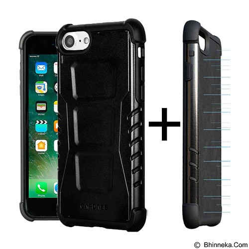 CAPDASE Armor Suit Combo Rider Jacket Newton cover For Iphone 7 Plus - Black Metallic (Merchant) - Casing Handphone / Case