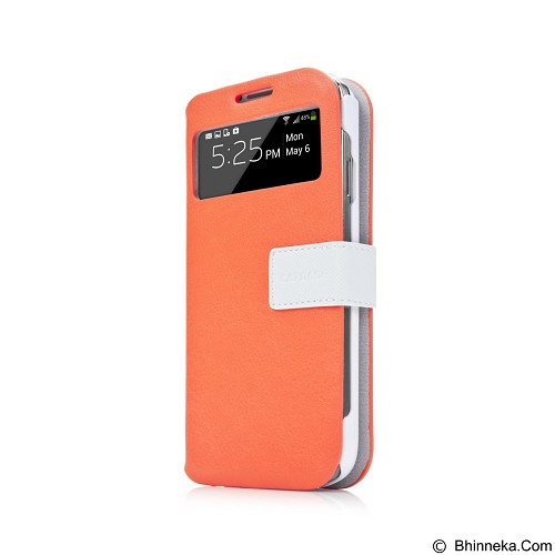 CAPDASE Case Samsung Galaxy S4 Smart Folder Sider ID Belt [SFSGS4-SA72] - Orange White - Casing Handphone / Case
