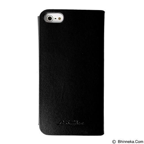 CAPDASE Celly Pista Agenda Lamborghini Casing for iPhone SE/5S/5/5s [LPASIP50] - Black Ecoleather (Merchant) - Casing Handphone / Case