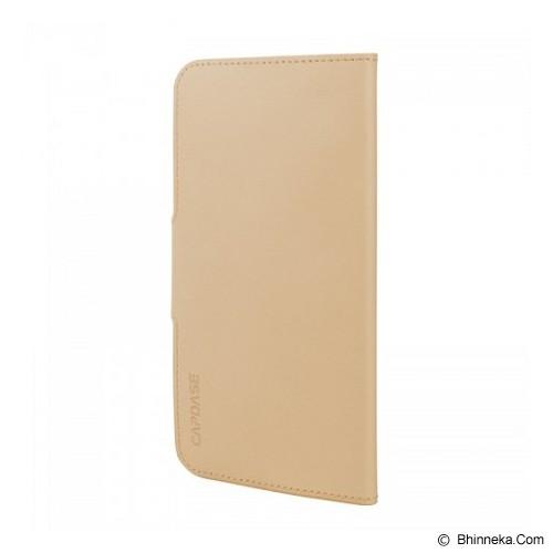 CAPDASE Flip Case Apple iPhone 6 Plus / iPhone 6S Plus Posh Genuine Leather Folio Gold - Beige - Casing Handphone / Case