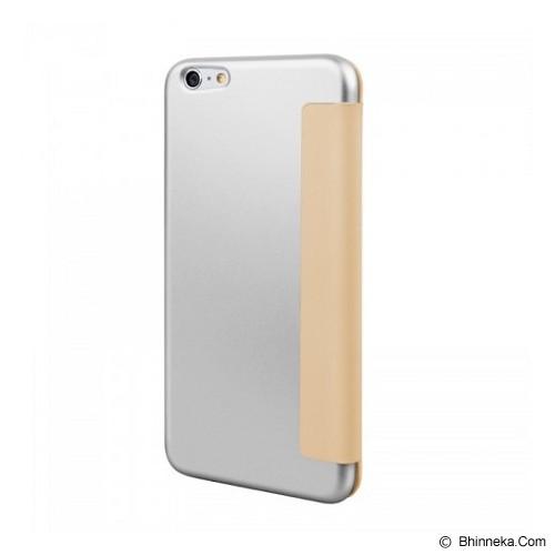 CAPDASE Flip Case Apple iPhone 6 / iPhone 6S Posh Genuine Leather Flip Case Grey - Silver/eige - Casing Handphone / Case