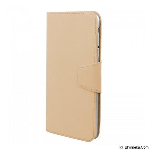 CAPDASE Flip Case Apple iPhone 6 / iPhone 6S Posh Genuine Leather Folio Silver - Beige - Casing Handphone / Case