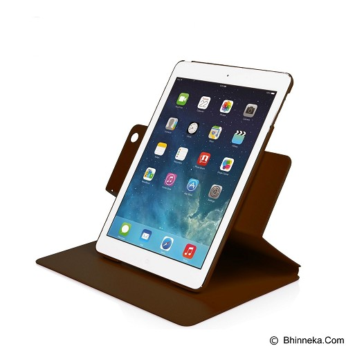 CAPDASE Folder Case Real Leathery Apple iPad Air [FCAPIPAD5-2U08] - Brown (Merchant) - Casing Handphone / Case