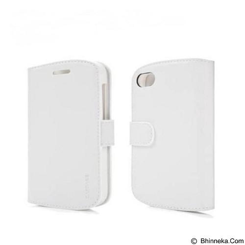 CAPDASE Folder Case Sider Classic Casing for Blackberry 9720 [FCBB9720-S422-BB] - White (Merchant) - Casing Handphone / Case