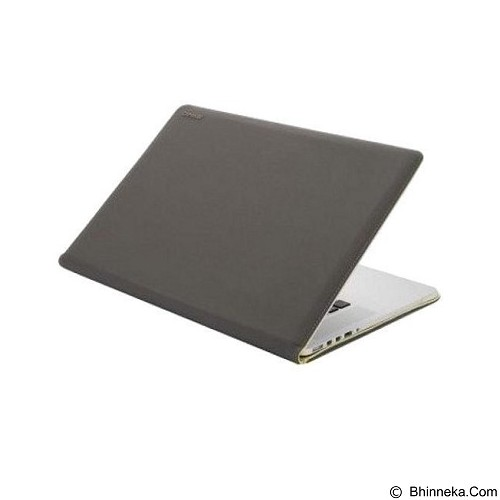 CAPDASE Folder Case Slim Moca for MacBook Pro 15R [FCAPMB15R-SMGE] - Grey (Merchant) - Notebook Skin