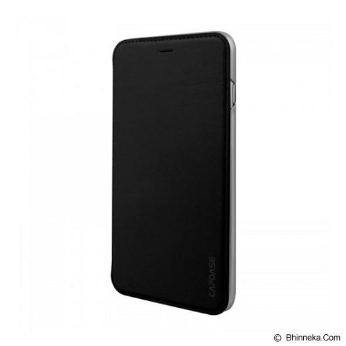 CAPDASE Folder Case Apple iPhone 6 Plus / iPhone 6S Plus Posh Genuine Leather Flip Case Grey - Black - Casing Handphone / Case