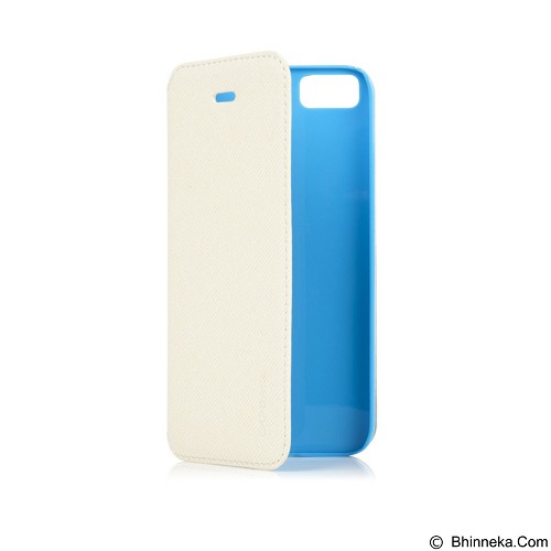 CAPDASE Folder Sider Baco Flipcover Casing for iPhone 5S [FCIH5-SB23] - White Blue (Merchant) - Casing Handphone / Case