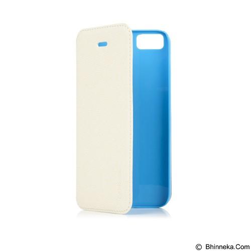 CAPDASE Folder Sider Baco Flipcover Casing for iPhone 5S [FCIH5-SB23] - White Blue (Merchant) - Casing Handphone / Case