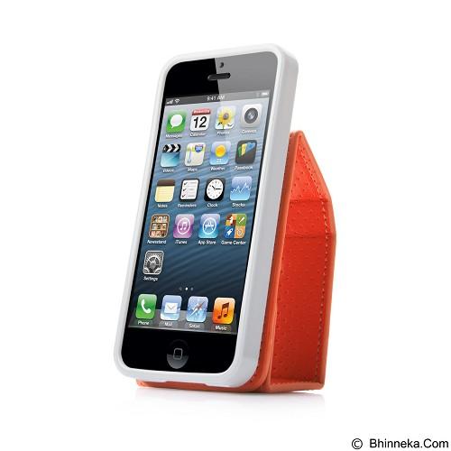 CAPDASE Folder Upper Polka Casing for iPhone 5 [FCIH5-UP7G] - Orange (Merchant) - Casing Handphone / Case