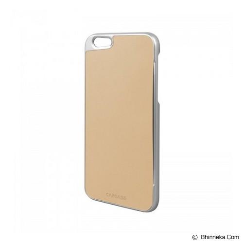 CAPDASE Karapace Jacket iPhone 6/6S Posh Genuine Leather Case with Card Slot - Silver Beige (Merchant) - Casing Handphone / Case
