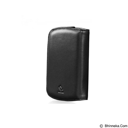 CAPDASE Leather Bifold Casing for BlackBerry 9900 [WCBB9900-5001] (Merchant) - Casing Handphone / Case