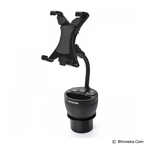CAPDASE Max Mount Cup Holder Charger for Apple iPad [CAAPIPAD-CM01] - Black (Merchant) - Car Kit / Charger