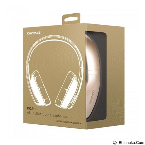CAPDASE Posh ANC Bluetooth Headphones [BH00-P10C] - Gold - Headset Bluetooth