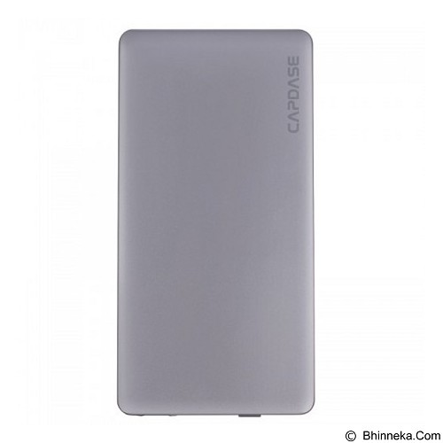 CAPDASE Posh Power Bank 3200mAh Ultra Slim with Built-in Lightning Connector [PBCB-P00G] - Grey - Portable Charger / Power Bank