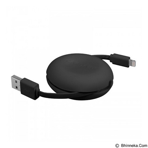 CAPDASE Posh Retractable Sync & Charge Cable with Lightning Connector [HCCB-PR01] - Black - Cable / Connector USB