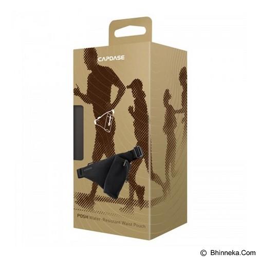 CAPDASE Posh Water-Resistant Waist Pouch 265A [WB00P265A-P001] - Black - Tas Pinggang/Travel Waist Bag