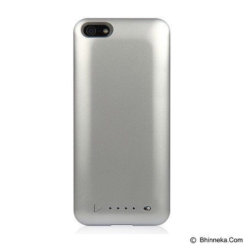 CAPDASE Power Armor Battery Casing for Apple iPhone 5 or 5s [BPIH5-LT0S] - Silver (Merchant) - Casing Handphone / Case