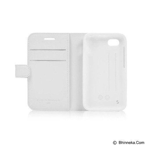 CAPDASE Sider Baco Folder Casing for BlackBerry Q5 [FCBBQ5-SB22-BB] - White (Merchant) - Casing Handphone / Case