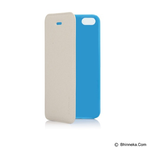 CAPDASE Sider Baco Folder Casing for iPhone 5C [FCIHM-SB23] - White Blue (Merchant) - Casing Handphone / Case