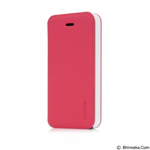 CAPDASE Sider Baco Folder Casing for iPhone 5S [FCIH5-SB92] - Red White (Merchant) - Casing Handphone / Case