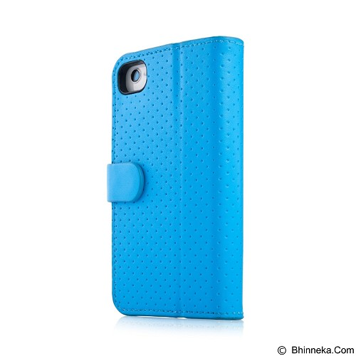 CAPDASE Sider Polka Casing for iPhone 4 [FCIH4S-SP3G] - Blue (Merchant) - Casing Handphone / Case