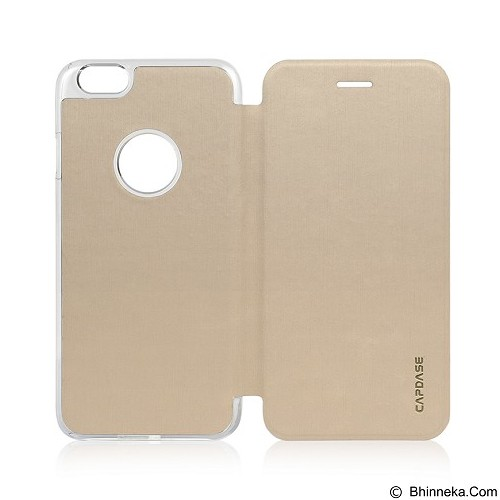CAPDASE Sider Slim for iPhone 6 [FCIH647-1SC0] - Champagne Gold Clear - Casing Handphone / Case