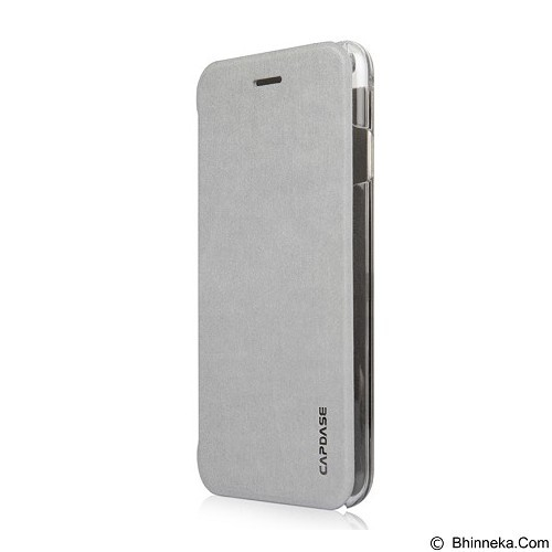 CAPDASE Sider Slim for iPhone 6 Plus [FCIH655-1SS0] - Silver Clear - Casing Handphone / Case