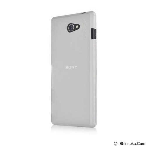 CAPDASE Soft Case Sony Xperia M2 Dual Soft Jacket Tinted [SJSYD2302-P202] - White - Casing Handphone / Case