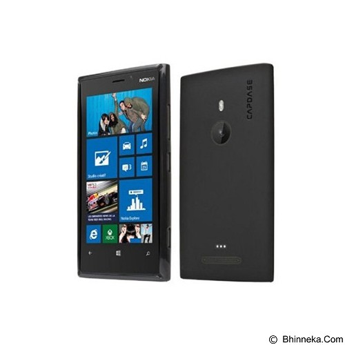 CAPDASE Soft Jacket  for Nokia Lumia 925 [SJNK925-P2Y1] - Black (Merchant) - Casing Handphone / Case