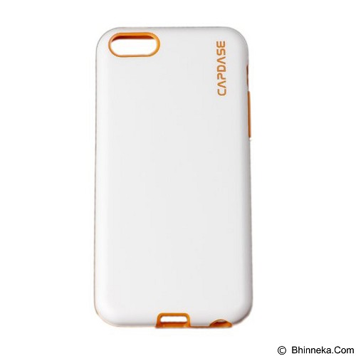 CAPDASE Vika Soft Jacket Case for Apple iPhone 5C [SJIHM-VK27] - White/Orange (Merchant) - Casing Handphone / Case